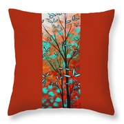 Lilly Pulitzer Inspired Abstract Art Colorful Original Painting Spring Blossoms By Madart Throw Pillow