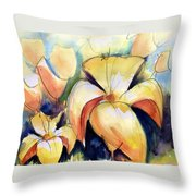 Lillys With Birds Throw Pillow