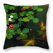 Lily 0147 - Colored Photo 1 Throw Pillow