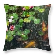 Lily 0147 - Light Colored Pencil Sl Throw Pillow