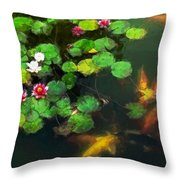 Lily 0147 - Oil Stain Sl Throw Pillow