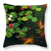 Lily 0147 - Watercolor 1 Sl Throw Pillow