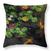 Lily 0147 - Watercolor 2 Sl Throw Pillow