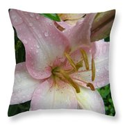 Lily After The Rain Throw Pillow