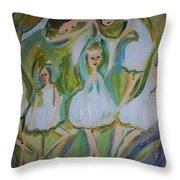 Lily Allegro Ballet Throw Pillow
