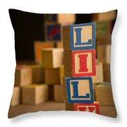 Lily - Alphabet Blocks Throw Pillow