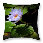 Lily And Shadow Throw Pillow