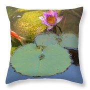 Lily And The Gold Fish Throw Pillow