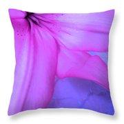 Lily - Digital Art Throw Pillow