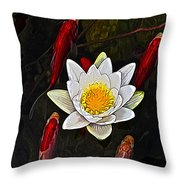 Lily Fish Throw Pillow
