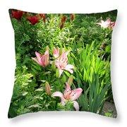 Lily Garden Throw Pillow