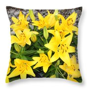Lily Gathering Throw Pillow