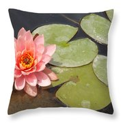 Lily Honey Throw Pillow