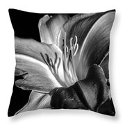 Lily In Black In White Throw Pillow