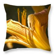 Lily In The Yard Throw Pillow