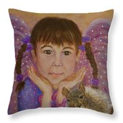Lily Isabella Little Angel Of The Balance Between Giving And Receiving Throw Pillow