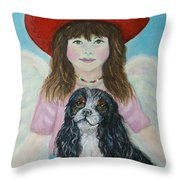Lily Little Angel Of Self Empowerment Throw Pillow by The Art With A Heart By Charlotte Phillips