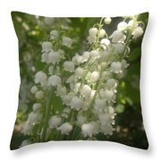 White Lily Of The Valley Bouquet Throw Pillow