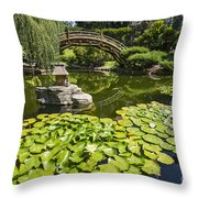 Lily Pad Garden - Japanese Garden At The Huntington Library. Throw Pillow