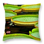 Lily Pad Pond Throw Pillow
