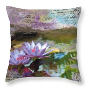 Lily Pad Sisters Throw Pillow