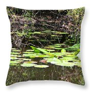 Lily Pads 1 Throw Pillow