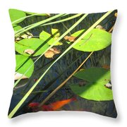 Lily Pads 2 Throw Pillow