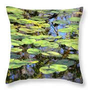 Lily Pads In The Swamp Throw Pillow