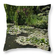 Lily Pads Monets Garden Throw Pillow