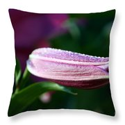 Lily Pearls Throw Pillow