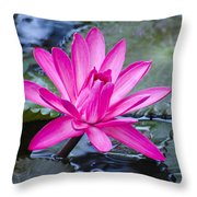 Lily Petals Throw Pillow by Carolyn Marshall