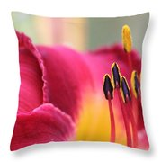 Lily Photo - Flower - Rusty Red Throw Pillow