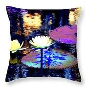 Lily Pond Fantasy Throw Pillow