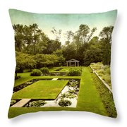 Lily Pond Garden Throw Pillow