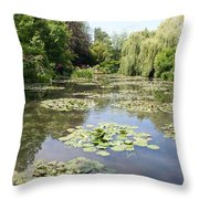 Lily Pond - Monets Garden Throw Pillow