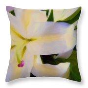 Lily Portrait Throw Pillow