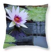 Lily Purple And White Throw Pillow