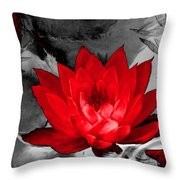 Lily Red And Koi Throw Pillow
