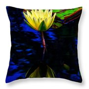 Lily Reflection Throw Pillow by Nick Zelinsky