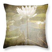 Lily Reflections Throw Pillow