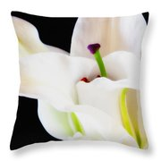 Lily Solitaire Throw Pillow