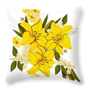 Lily Triplets Throw Pillow