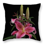 Lily With Buds Throw Pillow