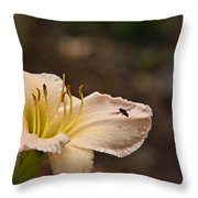Lily With Fly Throw Pillow