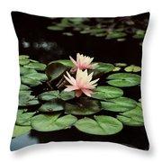 Lilypad And Lotus Throw Pillow