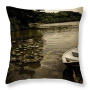 Lilypads In The Lake Throw Pillow by Amy Cicconi