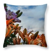 Lilys At La Fonda Throw Pillow