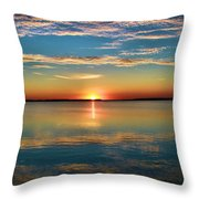 Lima Ohio Sunset Throw Pillow