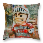 Lima Senior Mascot Throw Pillow