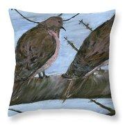 Limbirds Throw Pillow